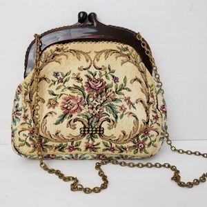 Vintage Made in West Germany Tapestry Mini Bag